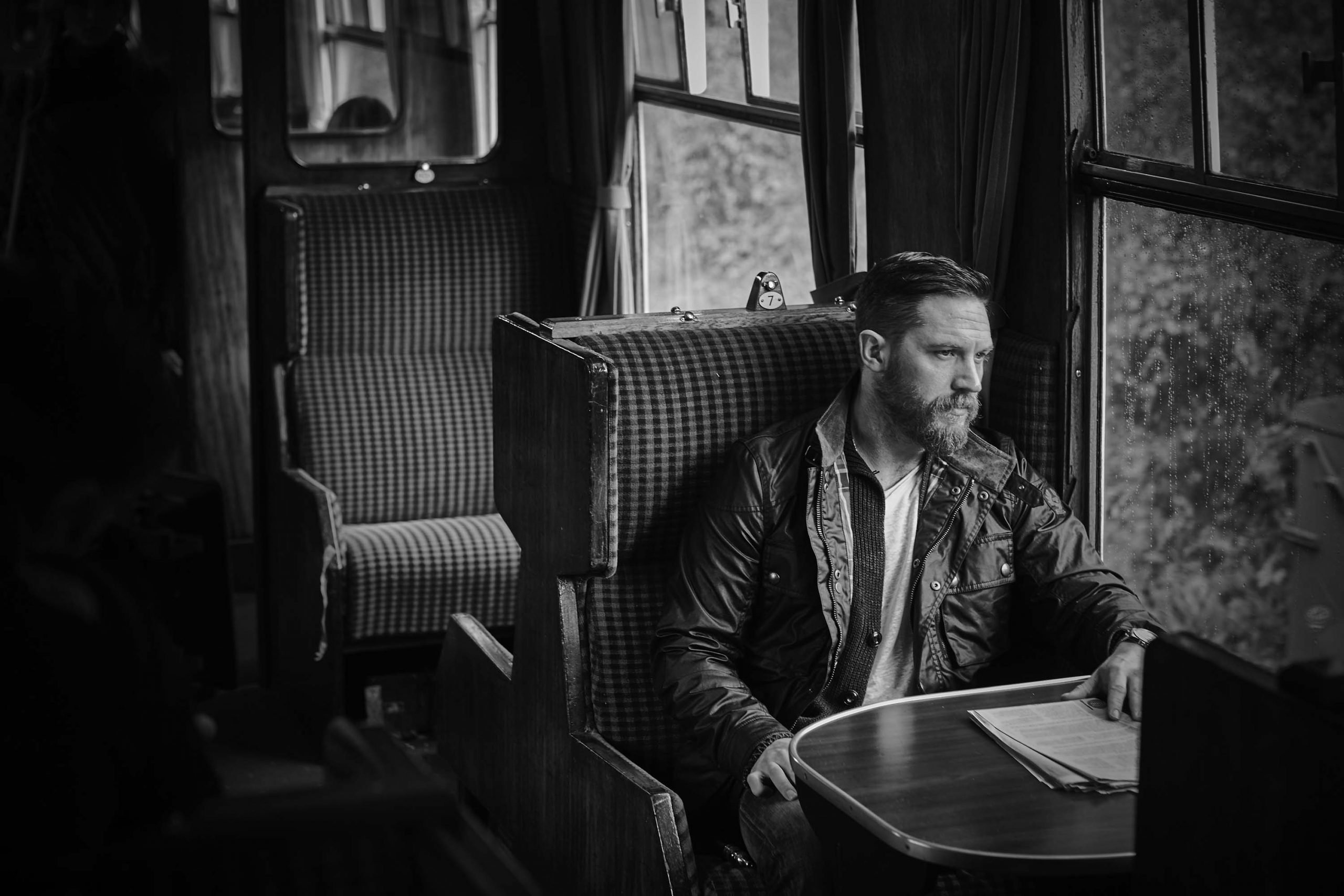 Tom Hardy at Train Station by Rama Lee For Arena Homme Korea