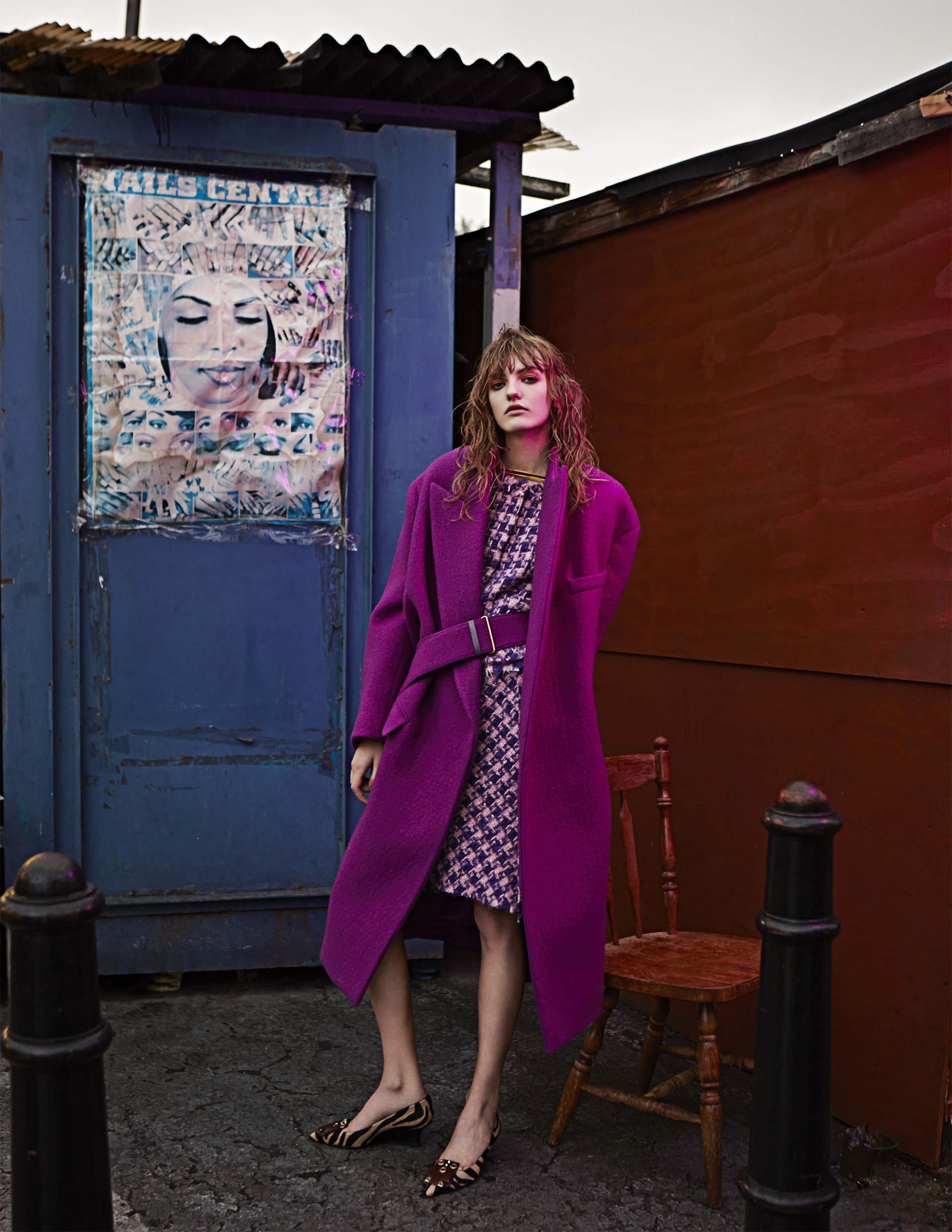 Pink Fashion Editorial Story by Rama Lee for Harper's Bazaar Kz